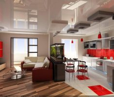 Dream House Design with Living Room and Kitchen in One Place