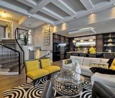 Extraordinary Living Room for Outstanding Dream House Design with Black and White Living Room