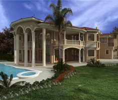Modern Outstanding Dream House Design with Pool and Big Garden with 5 Pillar House