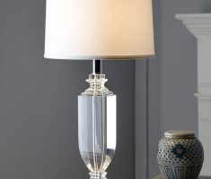 alluring glass materials of bedroom table lamps