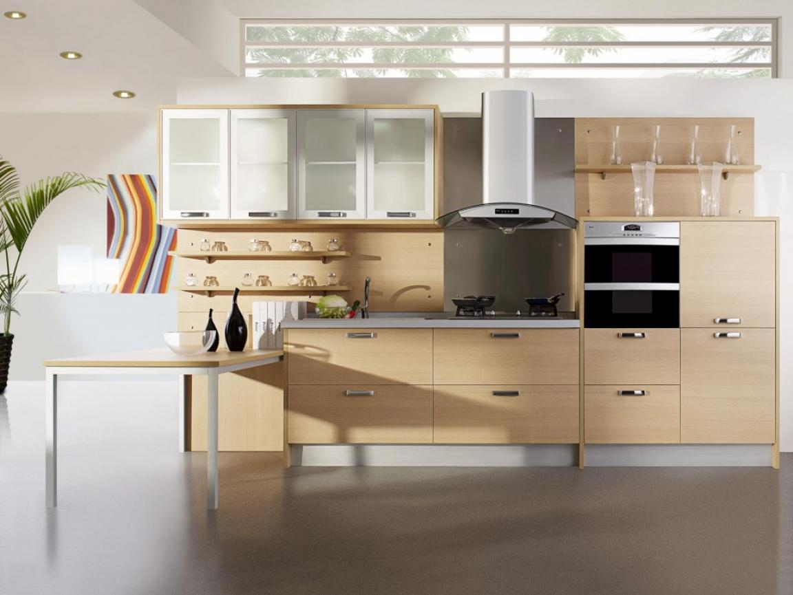 alluring-modern-kitchen-with-modern-walnut-kitchen-cabinets-decor