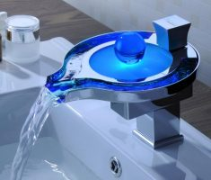 blue led vessel sink faucets design with ball
