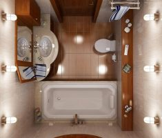 bathroom for small space remodelling top view