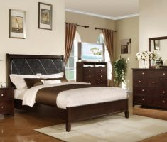 beaty queen bedroom sets with black and brown