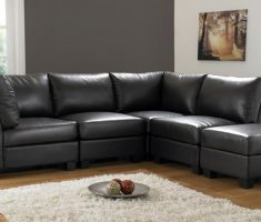 bed black sofa for living room leather