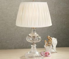 bedroom table lamps with glass materials