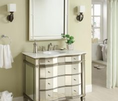 beveled vanity mirrors for bathroom with racks and unique drawers