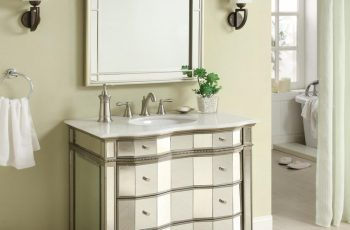 beveled-vanity-mirrors-for-bathroom-with-racks-and-unique-drawers