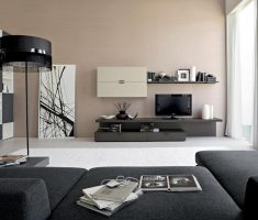 black grey and ivory modern living room design themed