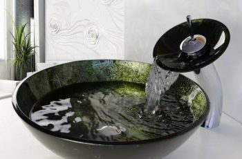 black-kraus-glass-vessel-sink-faucets-design
