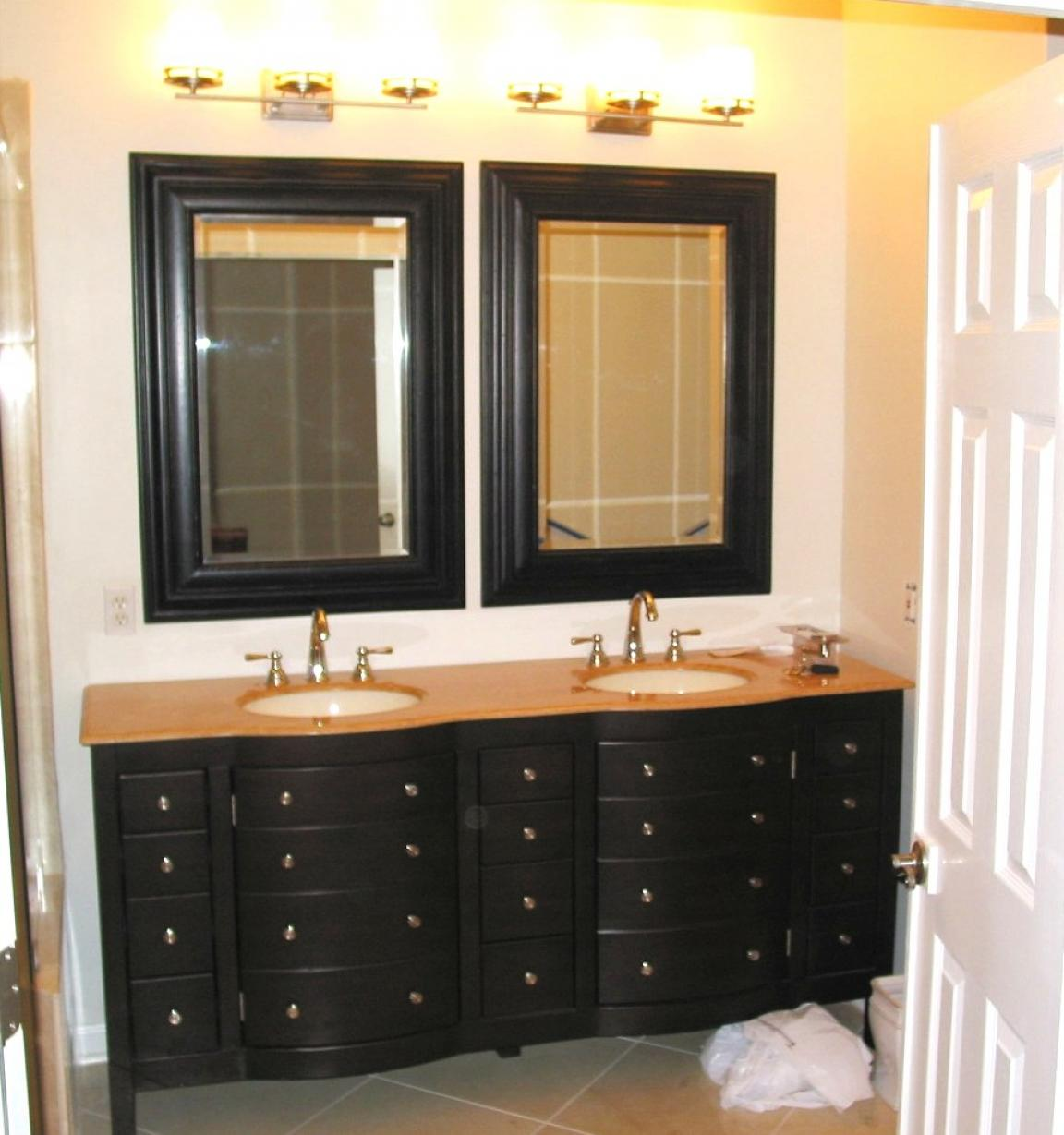 black vanity mirrors for bathroom with drawers storage and twin mirror home inspiring. Black Bedroom Furniture Sets. Home Design Ideas