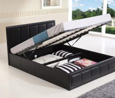 black white small double bed for small bedroom ottoman style with storage inside