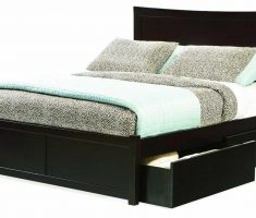 black wooden bed frames storage