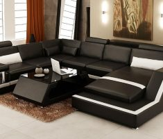 black and white leather sofa and chairs for ascent living room
