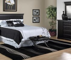 black and white queen bedroom sets