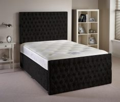 black and white small double bed for small bedroom velvet material