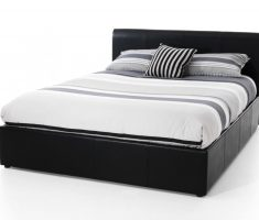 black and white small double bed for small bedroom with mattress