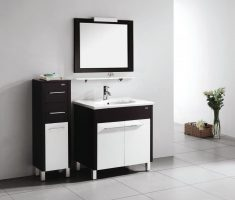 black and white vanity mirrors for bathroom