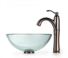 bronze rose vessel sink faucets design