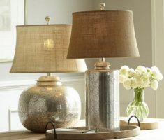 chrome material of bedroom table lamps