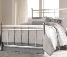 chrome queen bedroom sets with metal materials