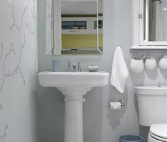 classic bathroom for small space