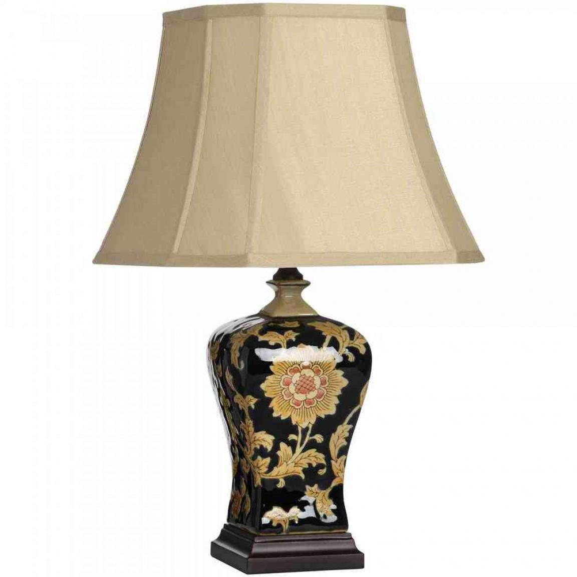 Classic bedroom table lamps with black ceramics material for Homebase design your own bedroom