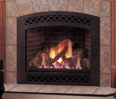 classic propane fireplaces with carving edge