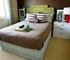 classical small double bed for small bedroom with mattress for boy room