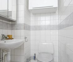 clearly bathroom for small space