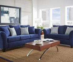 comfortable blue sofa for blue living room furniture