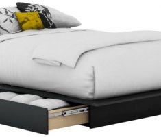 comfortable small double bed for small bedroom with drawer and mattress
