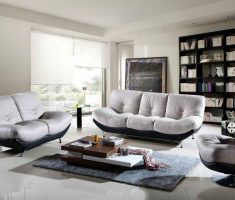 comfortable sofa sets with black and white grey accent chairs for living room