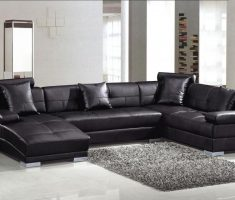compace bed black sofa for living room leather edition