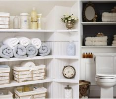 Complete 4 Racks Small Storage Bathroom Ideas
