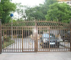 contemporary metal fence design gate