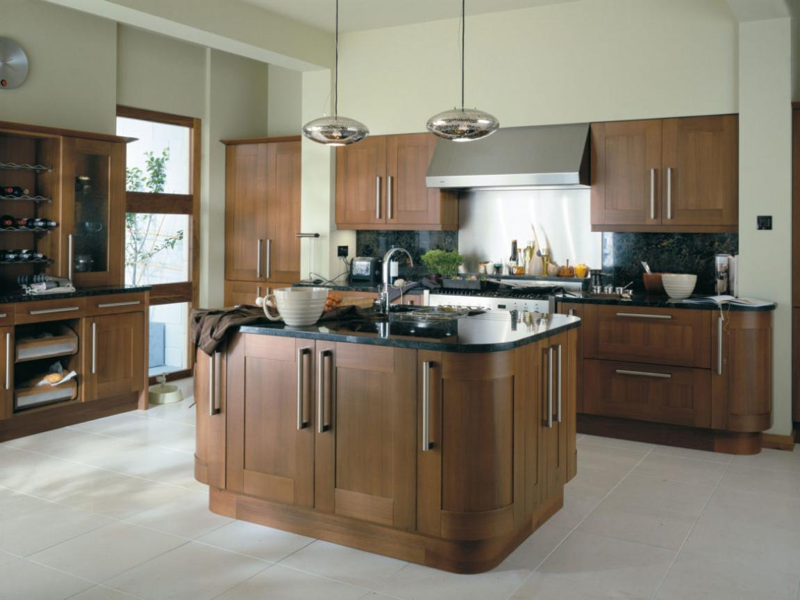 Walnut kitchen cabinets modern