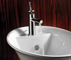 contemporary vessel sink faucets design chrome material