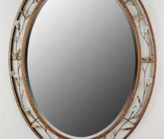 cool oval bathroom mirrors with floral framed