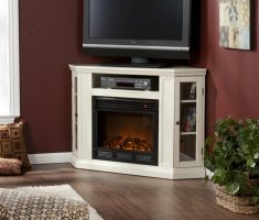 corner propane fireplaces with big tv cabinet sets