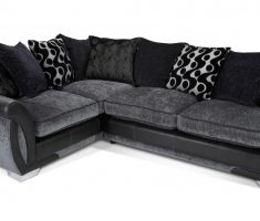 cozy corner black sofa for living room with grey combined
