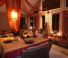 dining room moroccan decoration
