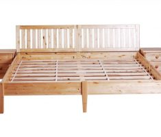 double best wooden bed frames with cabinet