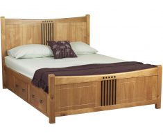 double drawer on wooden bed frames