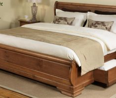 double wooden bed frames with drawer