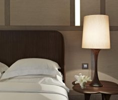 elegant bedroom table lamps with wooden material