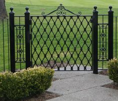 elegant minimalist black metal fence design