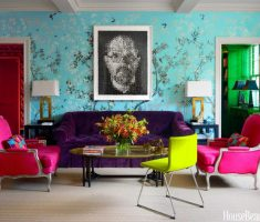 elegant purple sofa with pink arm chair for accent chairs for living room