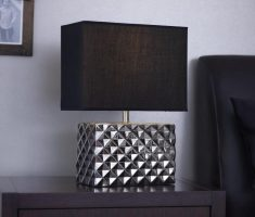 elegant royal bedroom table lamps with metal geometric