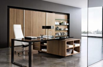 elegant-wooden-office-furniture-design-with-glass-wall
